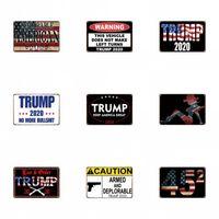 Трамп 2020 олово знак 20 * 30 см ретро цветные американский флаг украшения стены железа картина знаки горячие продажи uu