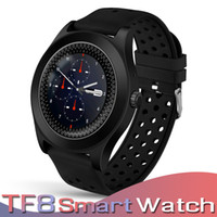 Tf8 smart watch bluetooth smartwatch spor izci ios ve android smart watch destek sim kart kamera pedometre sms perakende kutusu ile dial