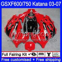 GSXF-600 Pour SUZUKI KATANA GSXF 750 600 Rouge vif GSXF600 03 04 05 06 07 293HM.42 GSX 750F GSXF750 2003 2004 2005 2006 2007 Carénage