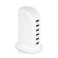 6- Port 30W USB Portable Charging Tower Station Desktop Wall ...