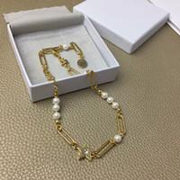 الفاخرة مصمم مجوهرات النساء الذهب كليب سلاسل مع ستار لؤلؤة مصمم قلادة لفتاة إلكتروني d الهيب هوب قلادة الأزياء الجميلة والمجوهرات