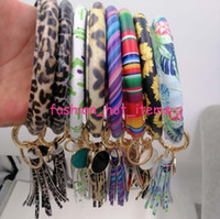 PU Leather tassel bracelet keychain wholesale Trendy persona...