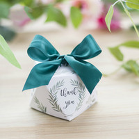 Diamond shape Green leaves forest style Candy Box Wedding Fa...