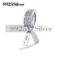 Fine 925 Sterling Silver Bails Cubic Zirconia Bails Jewelry ...
