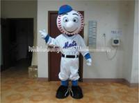 Yüksek kaliteli EVA Başkanı Mr Met maskot kostüm beyzbol yetişkin için maskot