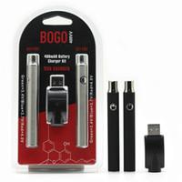 Bogo Lo Предварительная батарея двойное ручка зарядное устройство Blister Pack комплект Вариабельное напряжение VV 400mAh батареи для 510 резьбо толщиной масляный керамический картридж