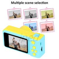 Câmera digital infantil Mini 1080p Brinquedo Cartoon Camcorder Crianças Presente de Aniversário DIY Câmera fotográfica 2 polegadas Recarregável suporta cartão TF