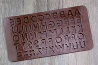 New moules lettre et le numéro de moule chocolat outils décoration gâteau à manger fondantes cookies Cuisson Outils