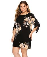 Womens Designer Floral Printed Dress Summer Plus Size Short ...
