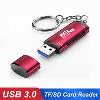 Yüksek Hızlı 2 1 USB 3.0 SD Mikro-SD Kart Okuyucu Adaptörü Dizüstü Bilgisayar Mikro TF Flaşı için