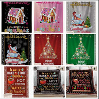 La lana Mantas de Navidad Home Kids Fashion engrosamiento capucha Alfombra de Navidad Blanke invierno manta caliente Inicio Tapices WY74Q
