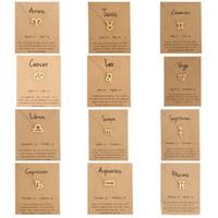 12 Sternzeichen Halskette Mit Karte Konstellation Sternzeichen Vergoldete Löwe / Widder / Jungfrau Anhänger Kette Choker Halskette Für Frauen