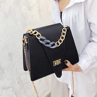 Hot Fashion Summer Women Leather Shoulder Bags Chain Lock Me...