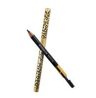 حار بيع ليوبارد مزدوجة رئيس الحواجب كحل القلم الأسود ماء براون رمادي قلم رصاص مع فرشاة المكياج كحل 5 ألوان DHL سفينة الحرة