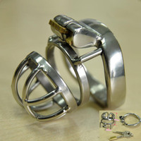 Super Small Male Bondage Chastity belt Stainless Steel Adult...