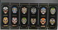 Пекинская живопись шесть экрана ручной работы маска Opera Ware China Superb Lacquer вентиляторы Axjgh
