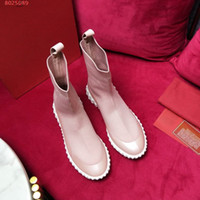 new women boots Famous brand designer flat boots for women T...