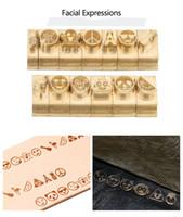 Alfabeto DIY Carta sello logotipo personalizado sello de piel Cobre Latón Madera Papel tapiz Pan Cake Die sello Calefacción relieve del molde Metal la carta