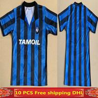 TOP 1991 1992 Atalanta Retro Caniggia Stromberg Paulino Soccer Jersey 91 92 Thailandia Camicie di calcio di qualità