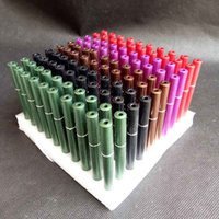 Colorido Cigarrillo En forma de tubo de metal Bateador Murno Mano Tabaco Fumar Tubos Tubos Tubo Herramientas Herramientas 78mm Longitud Snuff Snuff Snuff
