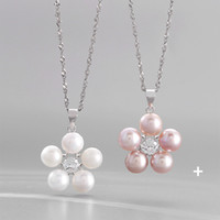 Explosion Fashion Pearl Necklace Female Jewelry Accessories 925 Sterling Silver Pendant Clavicle Chain