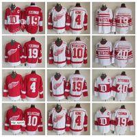 Venta 19 Steve Yzerman Jersey Detroit Alas rojas 40 Henrik Zetterberg 10 Alex DelVecchio 4 Gordie Howe Vintage Hockey Hockey Jerseys Red