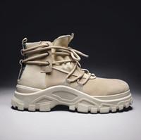 Venda-Men Hot das Ankle Boots Men Outdoor Sports Casual Botas alta Homens Qualidade 2019 Primavera Outono alta ajudar Sapatos de trabalho ao ar livre Tamanho 39-44