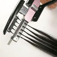 2020 منتج جديد 6D تلميح الشعر ملحقات الجيل الثاني منتجات بشرة محاذاة مايكرو الدائري حبة حلقة الشعر البشري 100Strands