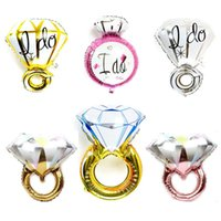 Vendita calda I Do Diamond Ring Elium Balloon Gold Argento GRANDI SIZE FOIL Balloons Wedding Engagement Birthday Party Decorazione