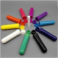 100 Sets Essential coloré Huile Aromathérapie blanc Tubes inhalateur nasal Diffuseur de haute qualité coton Wicks