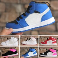 low priced ba56b debab Nike air jordan 1 retro Kids Off Shoes 1 Jam Bred Concord Gym J1s Weiß Blau