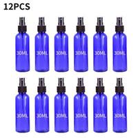 12PC 30ML الأزرق السفر زجاجة رذاذ بلاستيكية صغيرة رش زجاجة مع البلاستيك البخاخ النفط السائل الحاويات