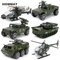 HOMMAT 1:87 Hotweels Autos Military Armee-Behälter-Hubschrauber-Modell Auto-Legierung Gießt druck Spielzeug Fahrzeuge Automodelle Spielzeug für Kinder
