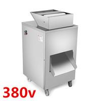 380v 1100w QC-A pollo, pato, ganso, paloma, máquina de corte de pescado, máquina cortadora de carne, producción 800 KG / hora