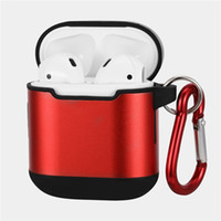 Alloy Metal Dual Layer Case For AirPods Wireless Earphone Co...
