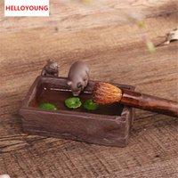 Besondere Kreative DIY Lila Sand Tee-Haustier-Schwein-Innenausstattungsartikel Hauptdekoration Kung Fu Tee-Zubehör