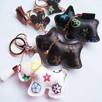 Luxus-Tasche Charms Schlüsselanhänger PU-Leder Schnauzer Neue Modedesigner Keychain Zubehör Tier Anhänger Cartoon Hund Schlüsselanhänger Ringhalter