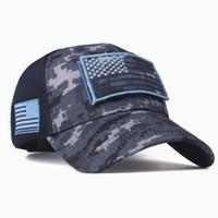 Kamuflaj Amerikan Bayrağı Beyzbol Şapkası Erkekler Için ABD Snapback Kemik Hip Hop Kap Yüksek Kaliteli Trucker Gorras unisex ayarlanabilir Şapka LJJJ92