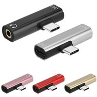 2 Dans 1 Type C à 3,5 mm audio Adaptateur de charge double AUX Splitter Chargeur Ecouteur Câble AUX Convertisseur Adaptateur pour Huawei