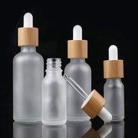 10ML 15ML 20ML 30ML 50ML 100ML متجمد الزجاج بالقطارة زجاجة زيت زجاجة مع جوهر الخيزران في زجاج بلوري