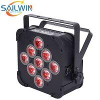 اسبانيا الأسهم sailwin 9x18 واط 6in1 rgbaw uv بطارية تعمل اللاسلكية dmx led par light ديسكو led par projector led aptlight