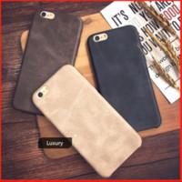 Hot Luxury Retro Mate Ultra-Thin a prueba de golpes Genuino Original de cuero suave Back Phone Funda para iPhone 6 / 6S 7 8 Plus X 10 XR XS Max