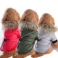 Haustiere Daunenjacken Hund Baumwolle gefütterte Jacke Herbst Winter Puppy Kleidung kleiner Hund Parkas Pet Kleidung roupa de cachorro Dropship