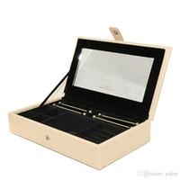 Новое Высокое Качество ПУ Кожаные Ювелирные Изделия Большая коробка для Pandora Подвески Кольца Браслеты Ожерелье Оригинальная коробка для хранения