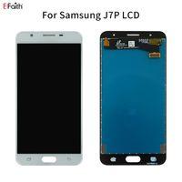 Samsung Galaxy J7 Prime G610 G610F G610M G610Y G610F / DS Sayısallaştırıcı Ekran Yedek Parça serbest DHL için EFAITH Oem LCD Ekran