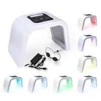 7 색 접이식 PDT 치료 LED 페이셜 마스크 피부 젊 어 짐 광자 장치 스파 여드름 리무버 안티 링클 레드 블루 Led 빛