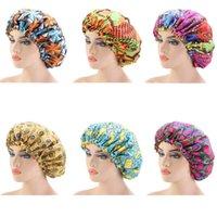 Extra Large Cap Sleep African печати ткани Ankara волосы капот сатин Подкладка Колпачок сон Ночной сон Hat дамы тюрбан