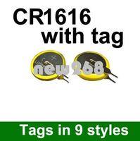 Freeshipping 도매 500pcs / lot 리튬 3V 버튼 셀 / 코인 셀 배터리 CR1616 탭