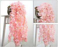 Искусственная гирлянда шелк Гортензия виноградная лоза 30 см Свадебные цветы высокой плотности поддельные цветок лепесток строка свадебные украшения для дома праздничные принадлежности