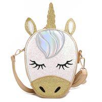 Unicorn kızlar çocuklar çanta sevimli Karikatür Mini sırt çantası boynuzlu çocukları Moda Kız Çanta Çantası Omuz Çantası A3383 sırt çantası glisten